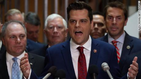 How Matt Gaetz is trying to change the subject