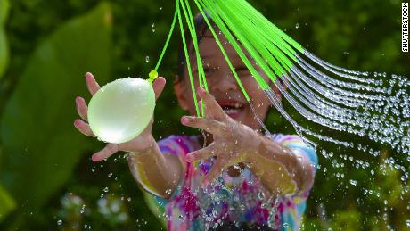 A water balloon fight is a perfect summer activity.