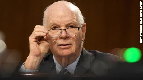 Sen. Ben Cardin (D-MD) commissioned a GAO report with Sen. Robert Menendez (D-NJ) that found the State Department is less diverse than the rest of the federal government. Here, he listens during a Senate Foreign Relations committee hearing on the State Department in July 2020.