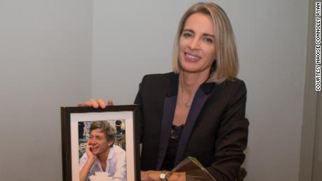 Naoise Connolly Ryan after her late husband, Mick Ryan, won the Irish Red Cross Humanitarian of the Year Award 2020.