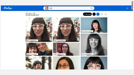 When CNN's Rachel Metz uploaded a picture of herself to PimEyes, it showed her other pictures of her it had found online.