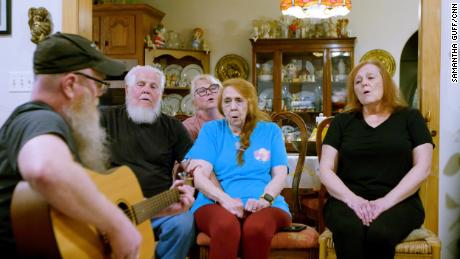 Although politics has caused a division within the Davis family, they still get together to sing and share a love of music.