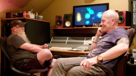 Chip and Billy Davis in Chip's home recording studio outside Nashville, Tennessee.