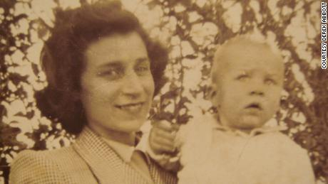 Jo Thomson and her son Robin, Rachel Egan's father, in an undated photo.