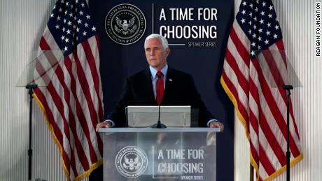 Pence seizes his chance