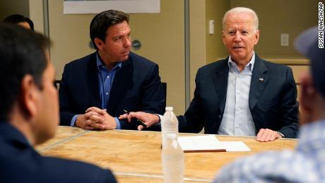 DeSantis and Biden make nice on the national stage