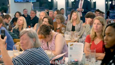 More than 100 people gathered at a diner in Howard County, Maryland in June to listen to a panel held by local Republican groups on school Covid-19 shutdowns and critical race theory.