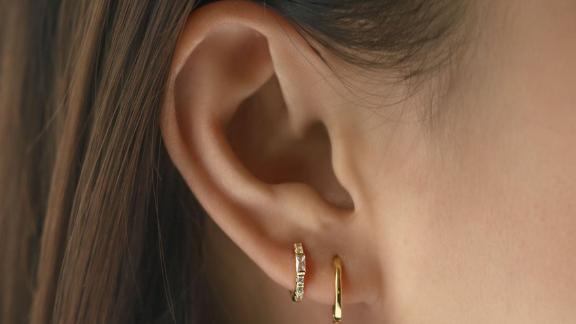 Amyo Baguette Huggie Earrings