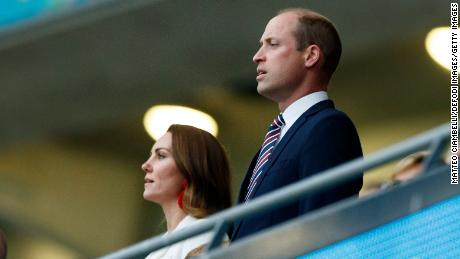 William and Kate at Wembley during the Euro 2020 final