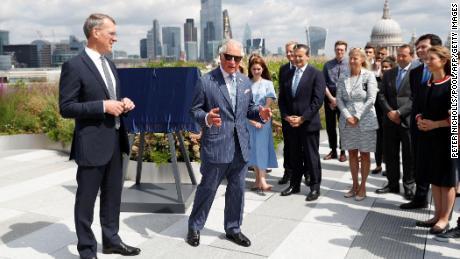 Charles during a visit to Goldman Sachs