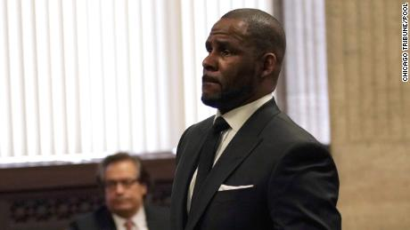 Singer R. Kelly appears in court on March 22, 2019, for a hearing at the Leighton Criminal Court Building in Chicago.