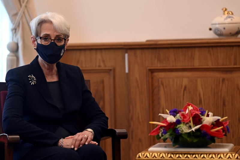 FILE PHOTO: U.S. Deputy Secretary of State Wendy Sherman is seen during her visit to the Orthodox Patriarchate in Istanbul, Turkey May 29, 2021. Ozan Kose/Pool via REUTERS