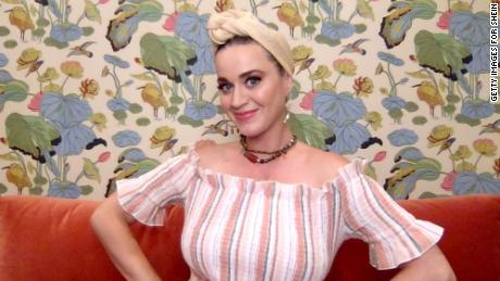 Katy Perry speaking at a Shein event in May 2020.