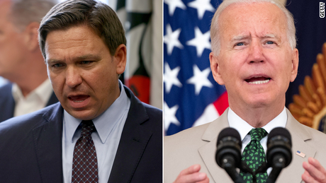 DeSantis turns his ire on Biden instead of Covid-19 as it rages in Florida