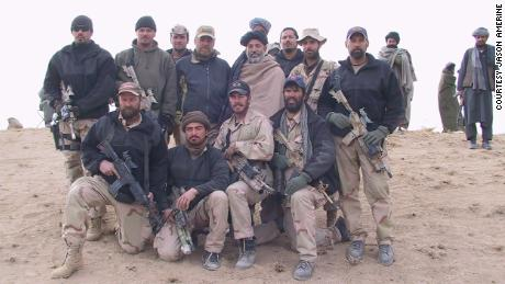 Amerine and his teammates with Karzai, December 3, 2001.