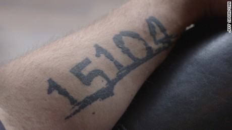 A tattoo on the arm of then-Braddock, Pennsylvania mayor John Fetterman from 2015.