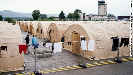 The Kabul airlift has ended, but a US operation to get 14,000 people off a base in Germany is far from over
