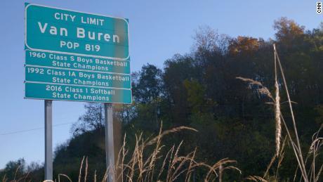 Van Buren is situated in the Ozark Mountains of Missouri.