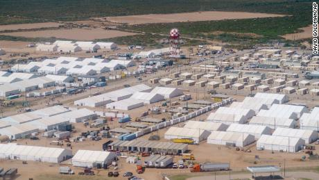 Tents are set up at Fort Bliss' Doña Ana Village where Afghan refugees are being housed in Chaparral, N.M., Friday, Sept. 10, 2021.
