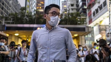 Nathan Law may be in the running for his pro-democracy activism in Hong Kong.